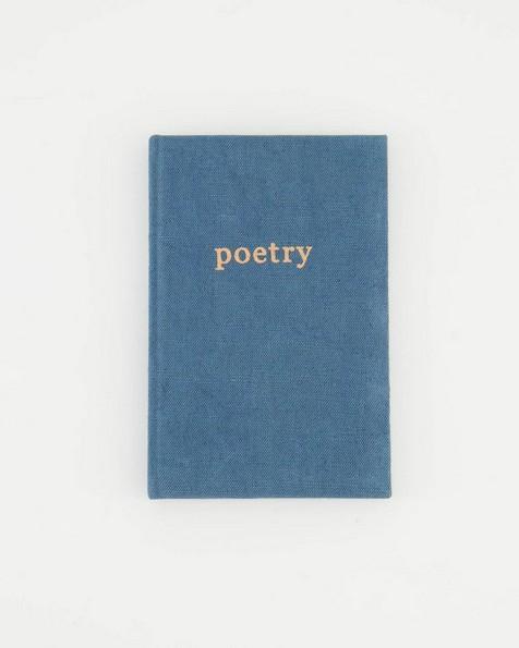 Poetry Linen Notebook -  navy