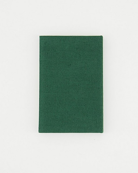 Poetry Linen Notebook -  green