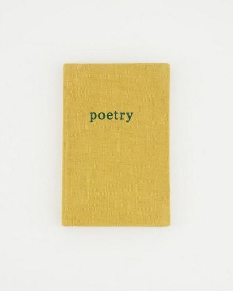 Poetry Linen Notebook -  ochre
