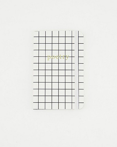 Poetry Grid Notebook (Two-Pack) -  black