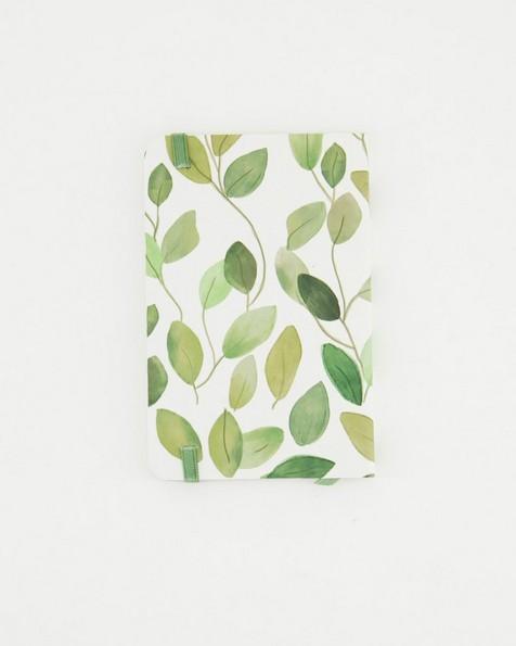 Simple Leaf Notebook -  green