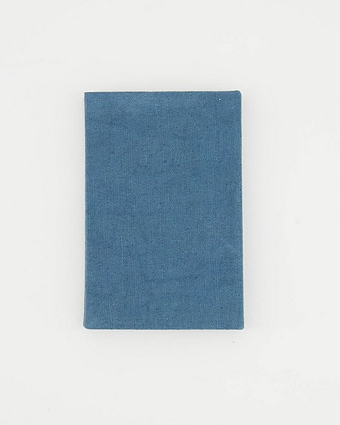 The Writer Linen Covered Notebook -  blue