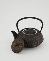 Bronze Cast Iron Teapot -  black