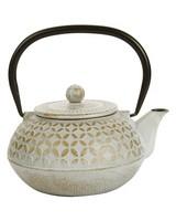 Grey & Gold Teapot -  grey