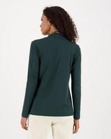 Viscara Ribbed Polo Neck -  green