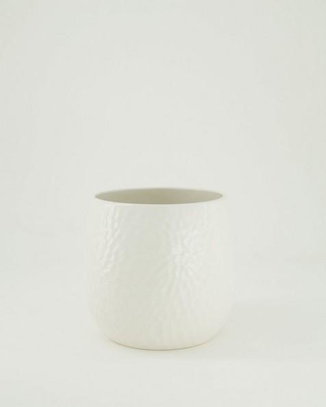 Pret-a-Pot Medium Honeycomb Planter  -  milk
