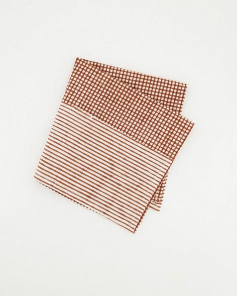 Zoe Napkin Set -  rust
