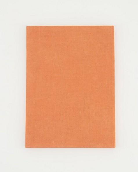 Copper Linen Notebook  -  rust