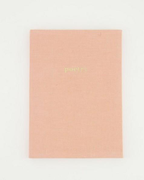 Pink Sand Linen Notebook -  dustypink