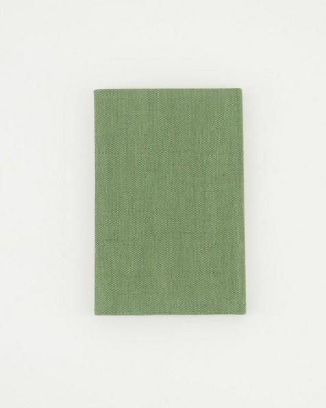 Pesto Linen Notebook  -  green