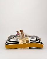 Variegated Medium Dog Pillow  -  black