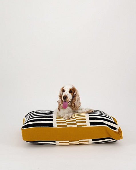 Variegated Small Dog Pillow  -  black