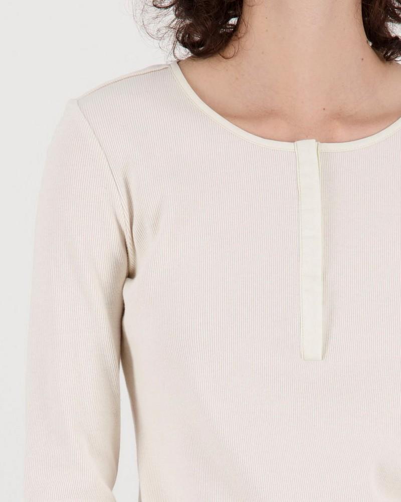 Poetry Shelley rib knit top -  milk