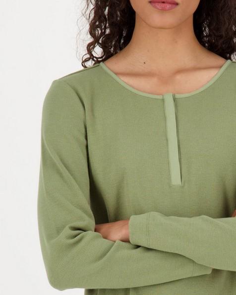 Poetry Shelley rib knit top -  green