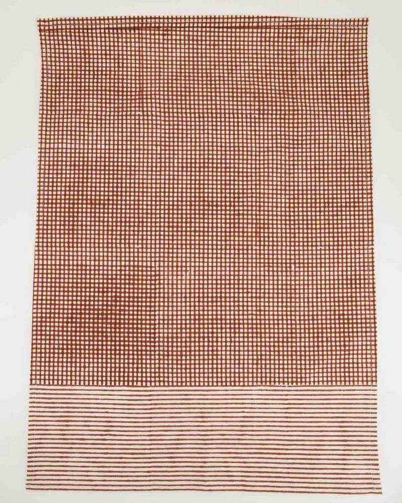 Zoe Tea Towel -  rust