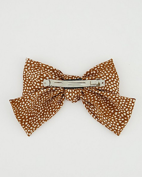 Orpa Oversized Satin Bow Clip -  rust