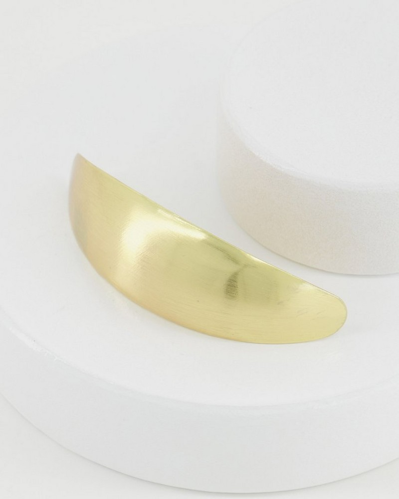 Ciana Brushed Metal Hair Clip -  gold