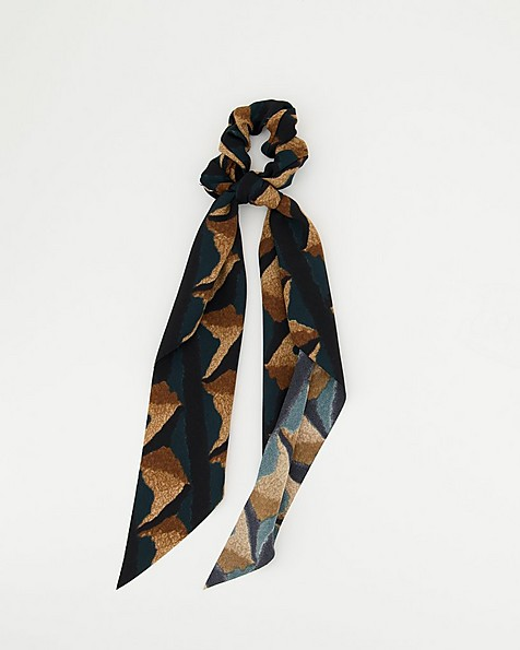 Andia Abstract Scarf Hair Tie -  assorted