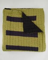 Weaver Block Print Quilt -  chartreuse