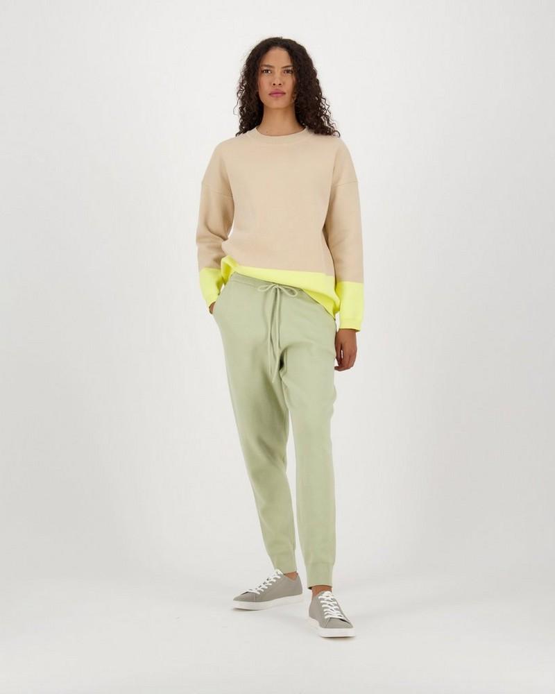 Daya Colourblock Knitwear Pullover -  cream