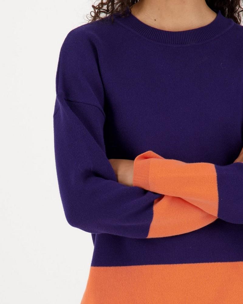 Daya Colourblock Knitwear Pullover -  indigo
