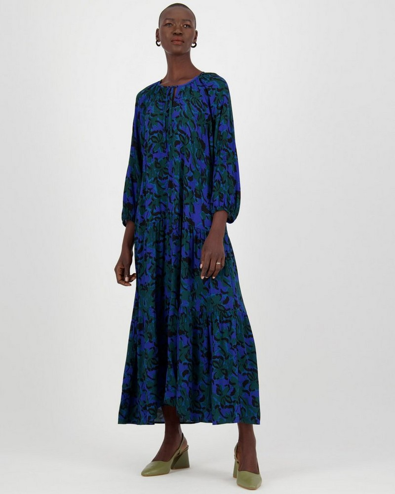 Clemence Dress -  cobalt