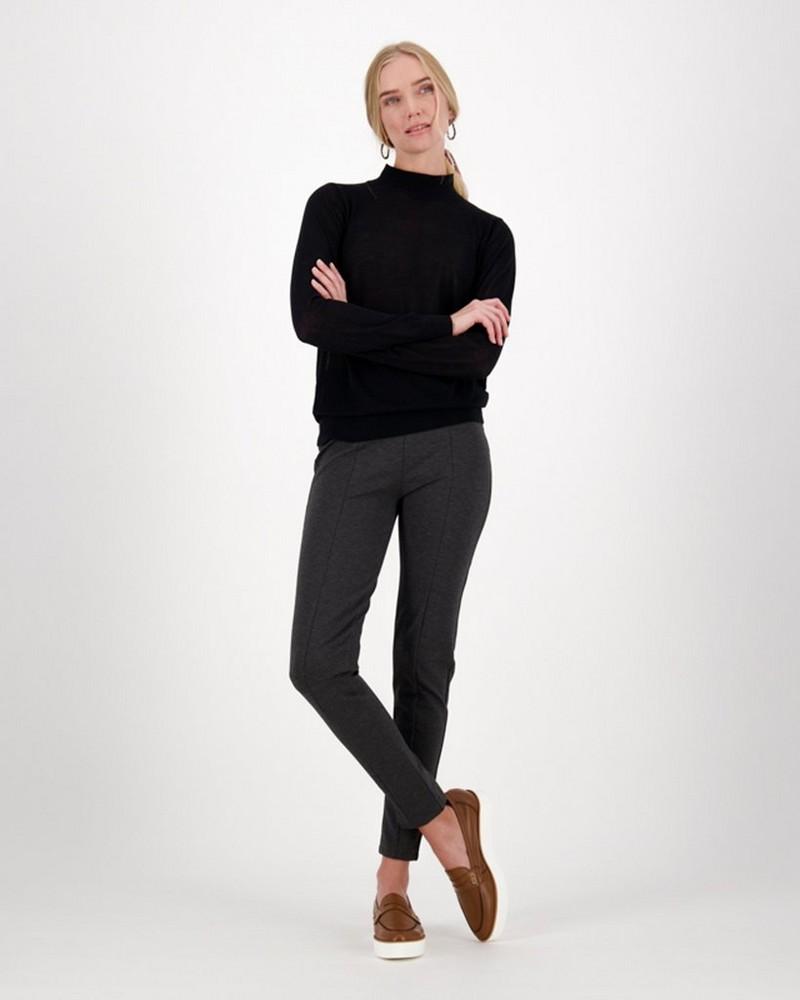 Hazel Knit Pullover -  black
