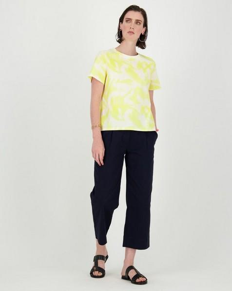 Kalon Brushstroke T-Shirt -  eggyellow