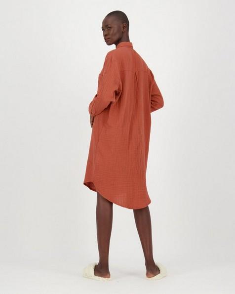 Frankie Loungewear Dress -  rust