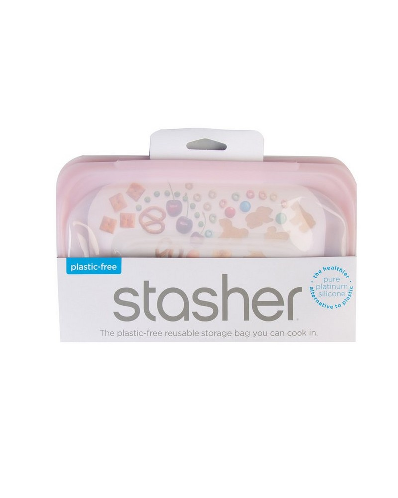 Stasher Snack Storage Container  -  rose
