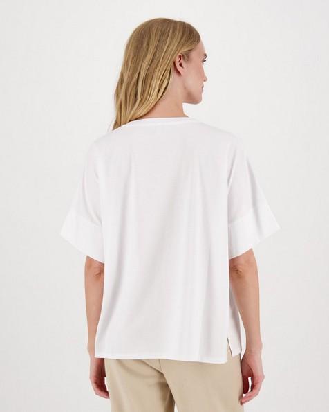 Remington Mercerized Knit T-Shirt -  white