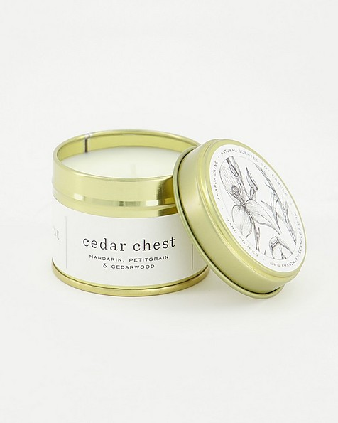Amanda Jayne Cedar Chest Scented Soy Candle -  white