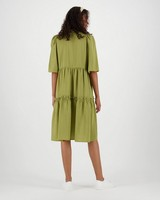 Poetry Ruby A-line Dress -  olive