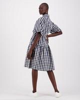 Tasha Check Dress -  navy