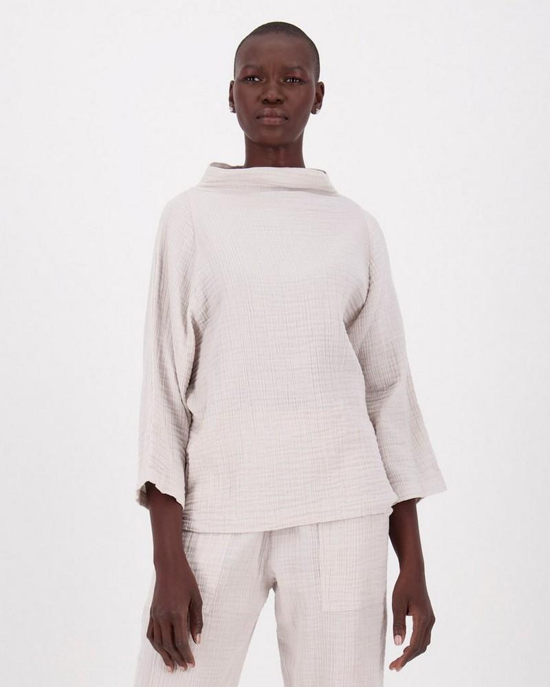 Frankie Loungewear Top -  stone