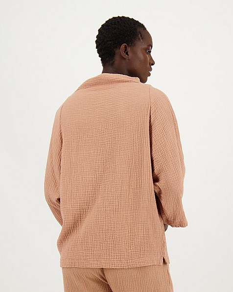 Frankie Loungewear Top -  camel