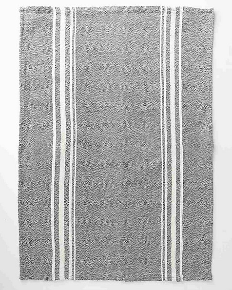 Barrydale African Contemporary Tea Towel -  charcoal