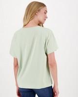 Meghan Mercerized T-Shirt -  green