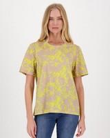 Jocelyn Printed T-Shirt -  brown