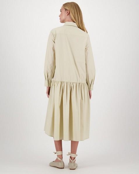 Una Poplin Shirt Dress -  stone
