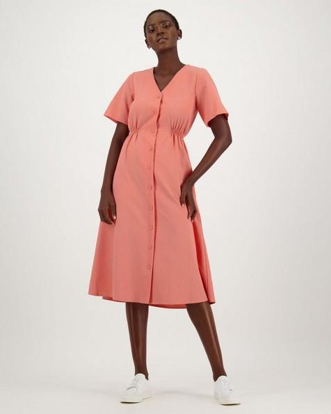 Taya Dress -  peach