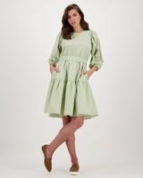 Edna Check Dress -  green
