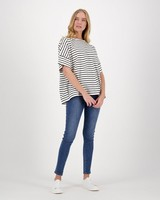 Remington Striped T-Shirt -  white