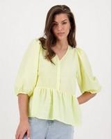 Lisa Interest Blouse -  yellow