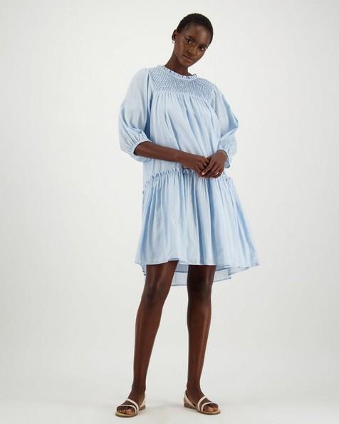 Poetry Adia Smock Dress -  blue
