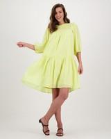 Poetry Adia Smock Dress -  yellow