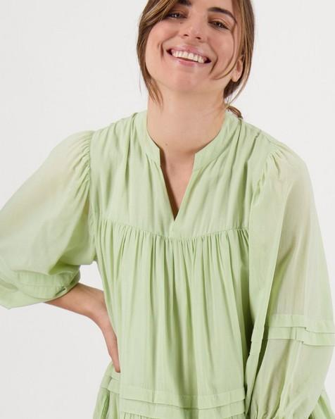 Eden Pintuck Dress -  green