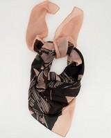 Dinah Botanical Silk Scarf -  dustypink