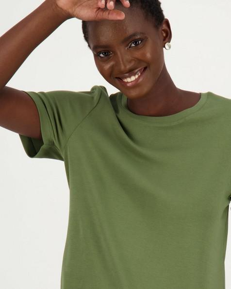 Poetry Larah Basic Tee -  green