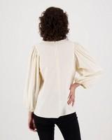 Vix Popover Shirt -  white